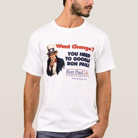 Uncle Sam Ron Paul Shirt