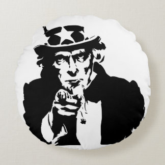 Uncle Sam Round Pillow