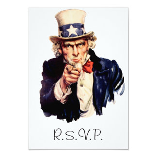 "Uncle Sam RSVP Card 3.5"" X 5"" Invitation Card"