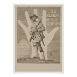 Uncle Sam s Right Hand-U S Marines Print