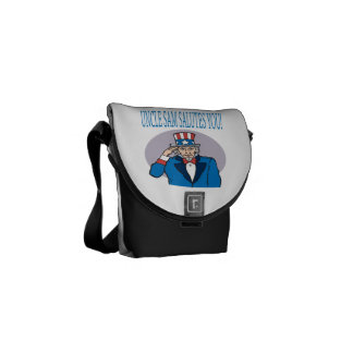 Uncle Sam Salutes You 2.png Courier Bags