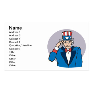 Uncle Sam Salutes You Double-Sided Standard Business Cards (Pack Of 100)