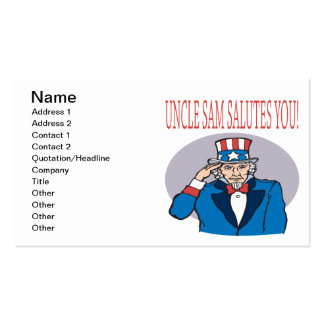Uncle Sam Salutes You Business Card