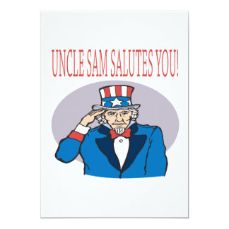 Uncle Sam Salutes You 5x7 Paper Invitation Card