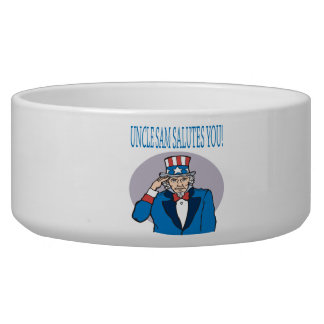 Uncle Sam Salutes You Dog Water Bowls