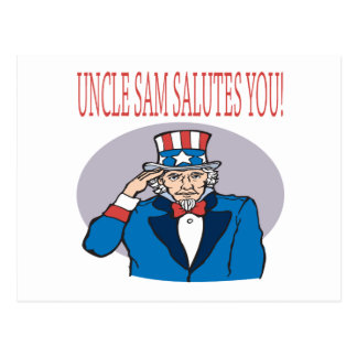 Uncle Sam Salutes You Postcard