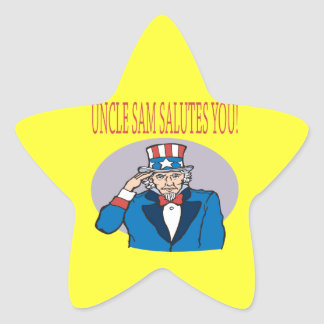 Uncle Sam Salutes You Star Sticker
