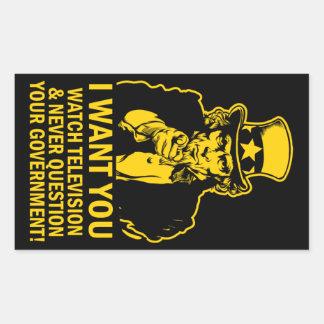 Uncle Sam Satire Sticker