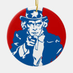 Uncle Sam Says Christmas Ornament
