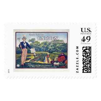 Uncle Sam says - garden to cut food costs Postage Stamp