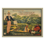 Uncle Sam says: garden to cut food costs Poster