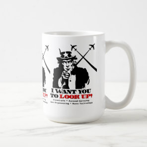 Uncle Sam says I Want You To Look Up Coffee Mug