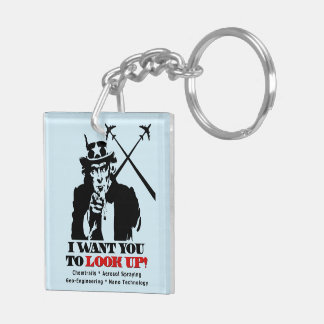 Uncle Sam says I Want You To Look Up Square Acrylic Keychains