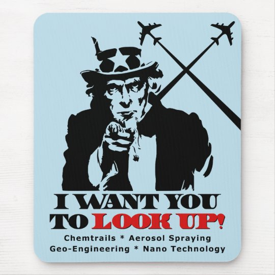 Uncle Sam says I Want You To Look Up Mouse Pad