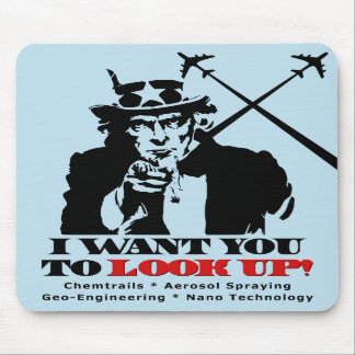Uncle Sam says I Want You To Look Up Mouse Pads