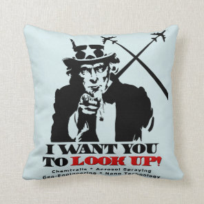 Uncle Sam says I Want You To Look Up Throw Pillow