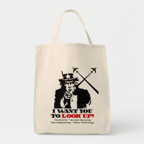 Uncle Sam says I Want You To Look Up Tote Bag