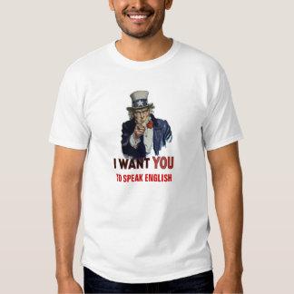 """Uncle Sam Says, """"SPEAK ENGLISH"""" T-shirt"""