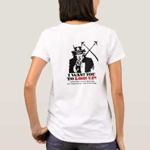 Uncle Sam says Stop Chemtrails T-Shirt