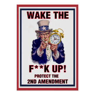 Uncle Sam Says Wake Up! Posters
