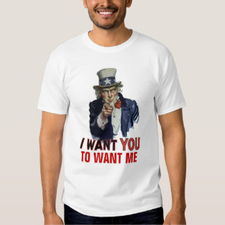 "Uncle Sam Says, ""Your Personal Message"" T Shirt"