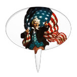 Uncle Sam Shows the Way Cake Topper
