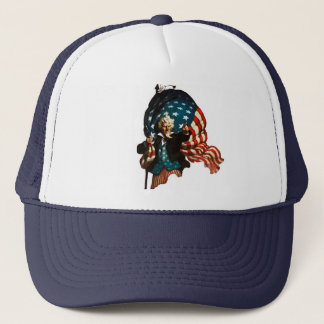 Uncle Sam Shows the Way Trucker Hat