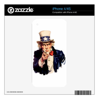 Uncle Sam Skin For The iPhone 4S