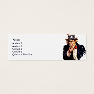 Uncle Sam Skinny Profile Cards