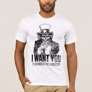 Uncle Sam Skull Shirt
