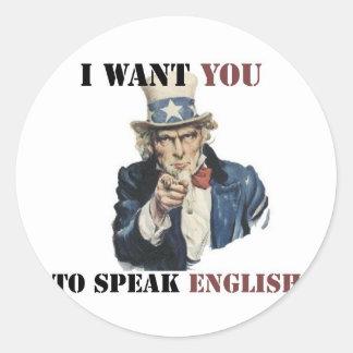 uncle_sam_speak_english_products_sticker