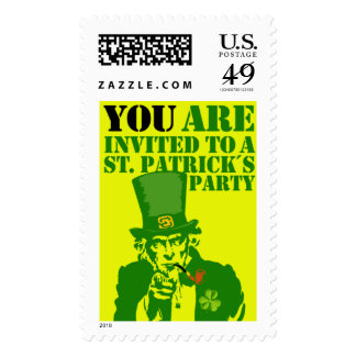 Uncle Sam, St. Patrick´s Day Party Postage Stamp