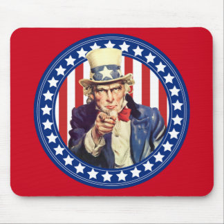 Uncle Sam Stars and Stripes Mouse Pad