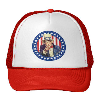 Uncle Sam Stars and Stripes Trucker Hat