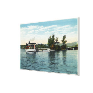 Uncle Sam Steamer at the Loon Island Landing Canvas Print