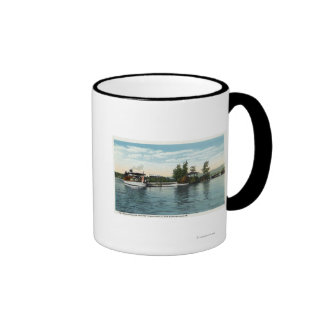 Uncle Sam Steamer at the Loon Island Landing Ringer Coffee Mug