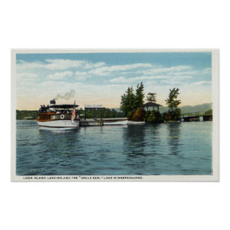 Uncle Sam Steamer at the Loon Island Landing Poster