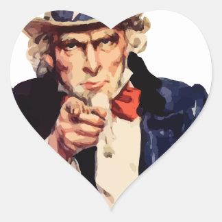 Uncle Sam Heart Sticker