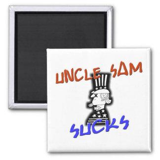 Uncle Sam Sucks 2 Inch Square Magnet