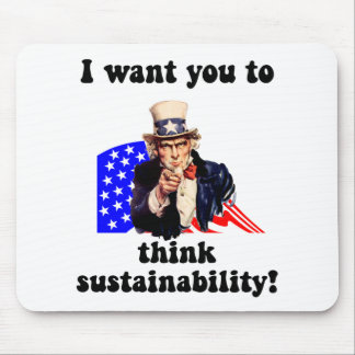 uncle sam sustainability mouse pad