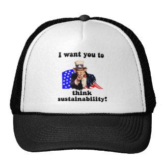 uncle sam sustainability trucker hat