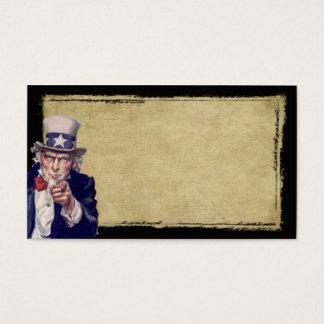 Uncle Sam & Tan- Prim Biz Cards