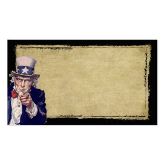Uncle Sam & Tan- Prim Biz Cards Business Card Template