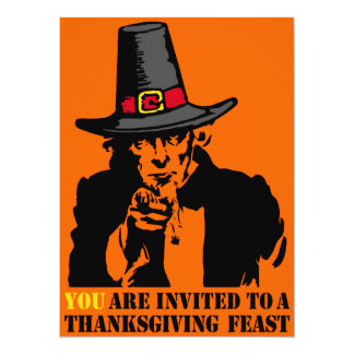 Uncle Sam Thanksgiving Feast Card