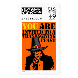 Uncle Sam Thanksgiving Feast Postage