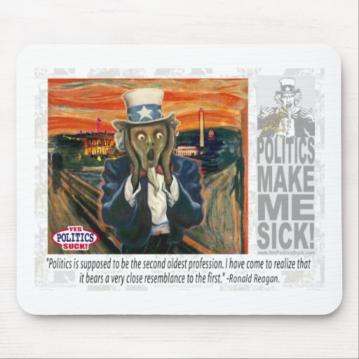 Uncle Sam The Scream Mouse Pad