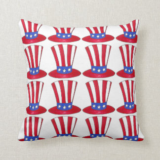 Uncle Sam Top Hat July 4th USA Patriotic America Throw Pillow
