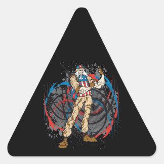Uncle Sam Tribal Camouflage Hunter Skull Triangle Sticker
