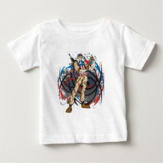 Uncle Sam Tribal Camouflage Hunter Skull T-shirt