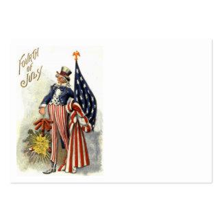 Uncle Sam US Flag Fireworks Firecracker Business Cards